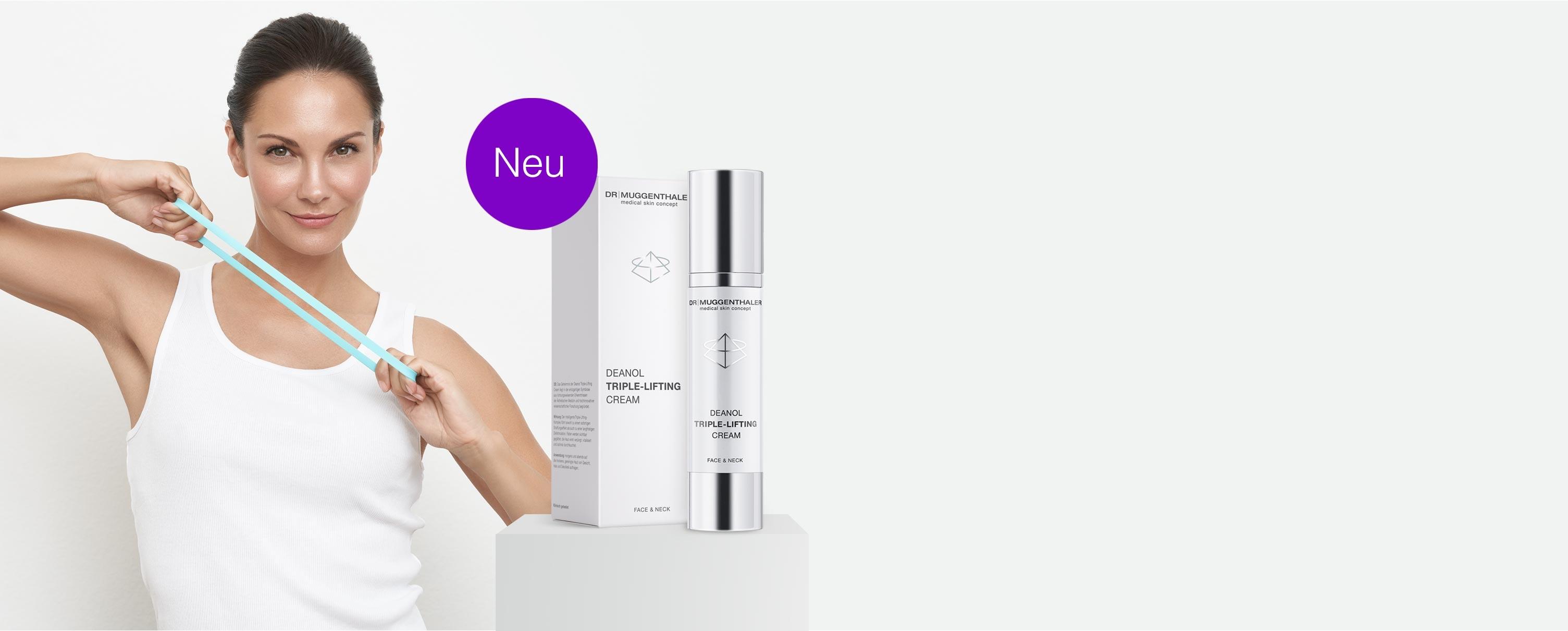 Die neue Deanol Triple-Lifting Cream von Dr. Muggenthaler